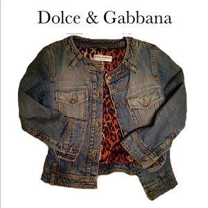 DOLCE & GABBANA-Vintage Jean-Jacket. Size: 42